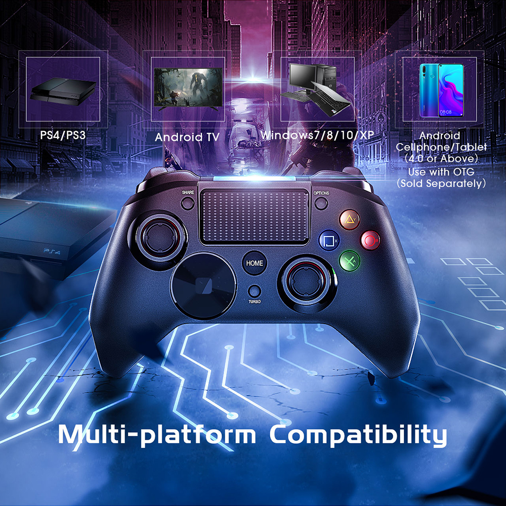 Mpow Wired Gamepads Game LED Light Gamepads Controller USB Gamepad With And Trigger Bottouns Gamepads For PS4PS3WinAndroid TV (2)