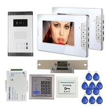 FREE SHIPPING 7 Color LCD Video Intercom font b Door b font Phone System 2 Screen