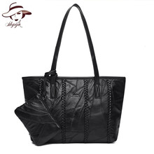 Set Bags Genuine Leather 2 Bags Shoulder Handbag and Clutch Famous Brand Messenger Hand Bag Knitting Crossbody Tote Ladies Purse