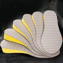 EFBABA Hombre Mujer Plantillas Aumentar Altura Plantilla Pie Almohadilla de Cuero Elástico Suelas Para Zapatos Accesorios Altura Plantillas Para Los Hombres