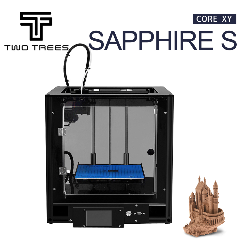 TWO TREES Sapphire S CoreXY 3D Printer Acrylic shell High precision Automatic leveling Aluminium Profile Frame