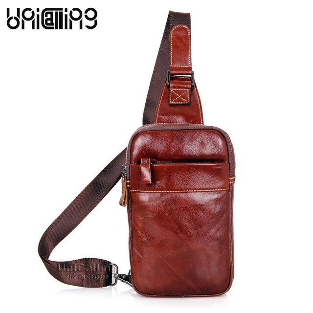 1b4e6df995e1 Hot Sale fashion leather men crossbody bag real cow leather messenger bag  casual men genuine leather chest bag hold Mini iPad
