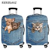 REREKAXI чехол для защиты багажа с 3D рисунком Милого Животного, 18-32 дюймов Чехол для костюма, эластичный чехол, пылезащитный чехол на колесиках