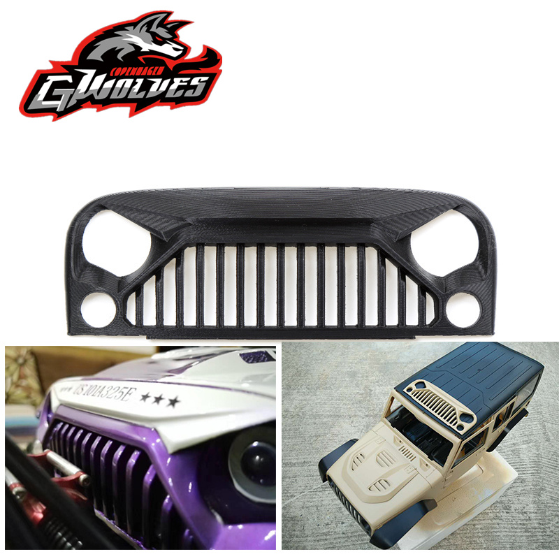 GWOLVES 3d print nylon 313 wheelbase shell Wrangler Air Inlet Grille anger Front Face 1/10 RC Rock Crawler Axial SCX10 RC4WD D90 high quality rc rock crawler 1 10 crawler car shell for axial scx10 rc4wd d90 d110 hard plastic wheelbase 313 mm
