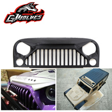 GWOLVES 3d print nylon 313 wheelbase shell Wrangler Air Inlet Grille anger Front Face 1/10 RC Rock Crawler Axial SCX10 RC4WD D90 цена