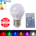 1pcs RGBW LED Bulb E27 Energy Saving 85-265V LED Spot Light 16 Color Change with IR Remote Control Stage Light Magic LED Lampara