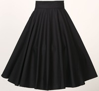 Free Ship Instock S To 6XL Plus Size Women Clothing Classical Full Circle Swing Skirts Black