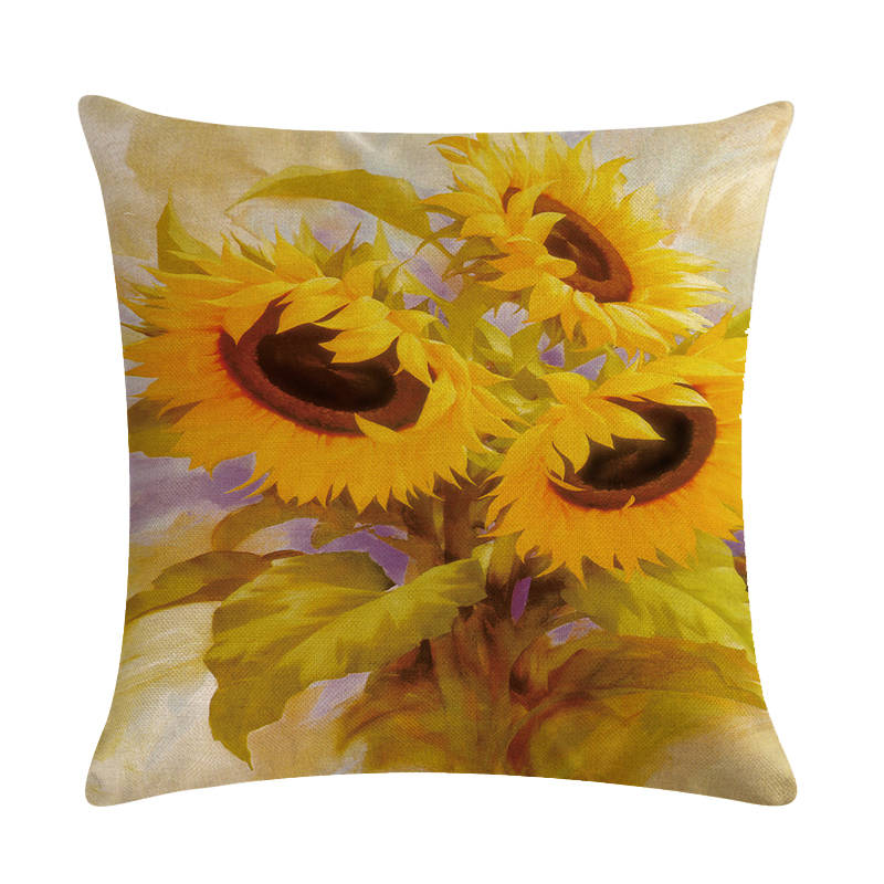 100/% Cotton Handmade Sunflower Pillowcase