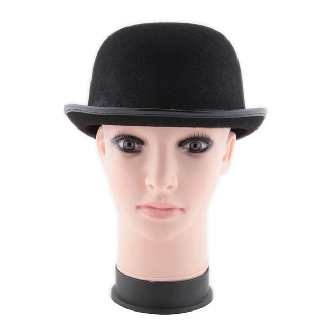 749c36964ce Women Men Nice Felt Black Bowler Hat Derby Theater Caps For Adults  Performance Show Wear Party
