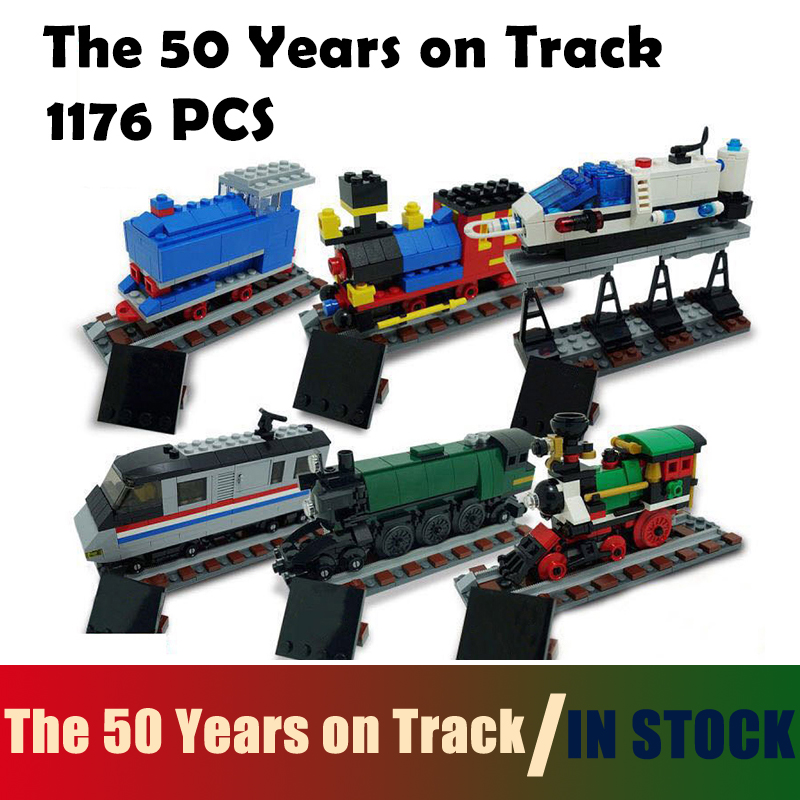 Compatible with Lego Technic Model building blocks Series 4002016  21029 1176Pcs The 50 Years on Track bricks toys for children compatible with lego technic creative lepin 24011 1344pcs 3 in 1 highway transport building blocks 6753 bricks toys for children