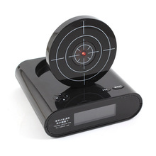 Fashion Creative Shooting Alarm Clock Recording Lazy Mute Children Alarm Clock GameInfrared Induction Shooting Clock with A Gun
