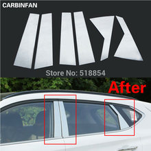 ACCESSORIES FIT FOR HYUNDAI TUCSON 2015 2016 2017 WINDOW CHROME PILLAR POST COVER TRIM MOLDING GARNISH ACCENT 6PCS/SET(China)