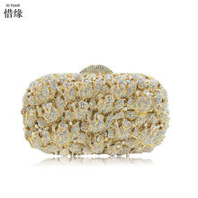 37705605a XIYUAN MARCA Moda Mulheres do casamento da Noite bolsa de Ombro Saco  Nupcial Embreagem bolsa de diamante de cristal Do Partido d.