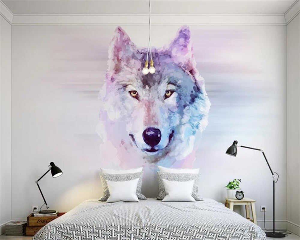 Beibehang Custom Photo Wallpaper 3D Animal Wolf Mural Wallpaper Living Room Bedroom Sofa Background decorative wall 3d wallpaper