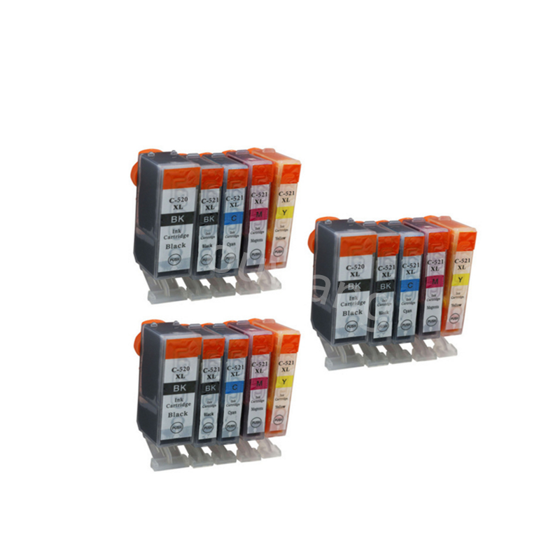 3set PGI-520 CLI-521 ink cartridge for Canon Pixma MP540 MP550 MP560 MP620 MP630 MP640 MP980 MP990 MX860 MX870 IP3600 pgi 520