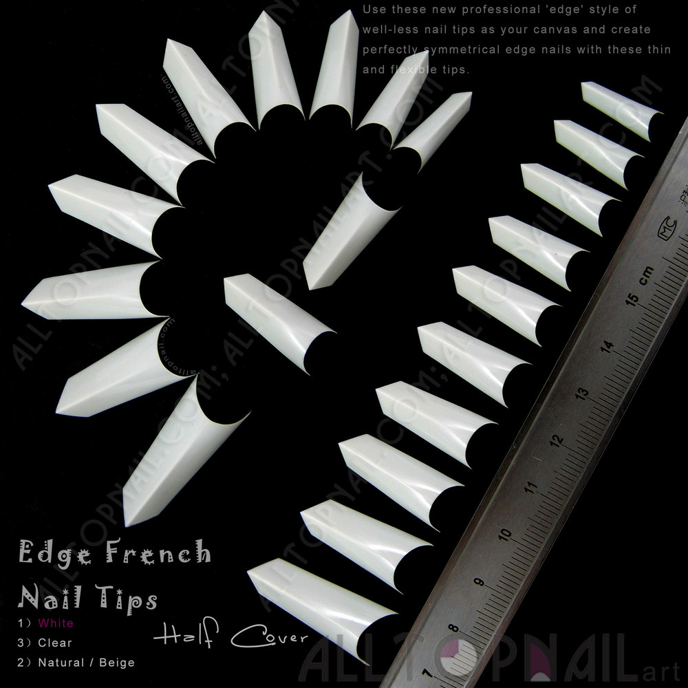 Buy 100x white 39 edge 39 style of well less for Acrylic nail prices at a salon