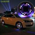 4 Pçs/lote LED Coloridas RGB Flash Luzes Da Roda Luzes LED À Prova D' Água para carro Jantes Roda De Energia Solar Lâmpada Para Audi BMW Honda Concentrar