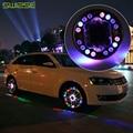 4 Unids/lote LLEVÓ Luces de la Rueda de Flash de Colores RGB Impermeable LLEVÓ Las Luces de Llantas de coche Rueda de la Energía Solar de La Lámpara Para Audi BMW Honda Enfoque