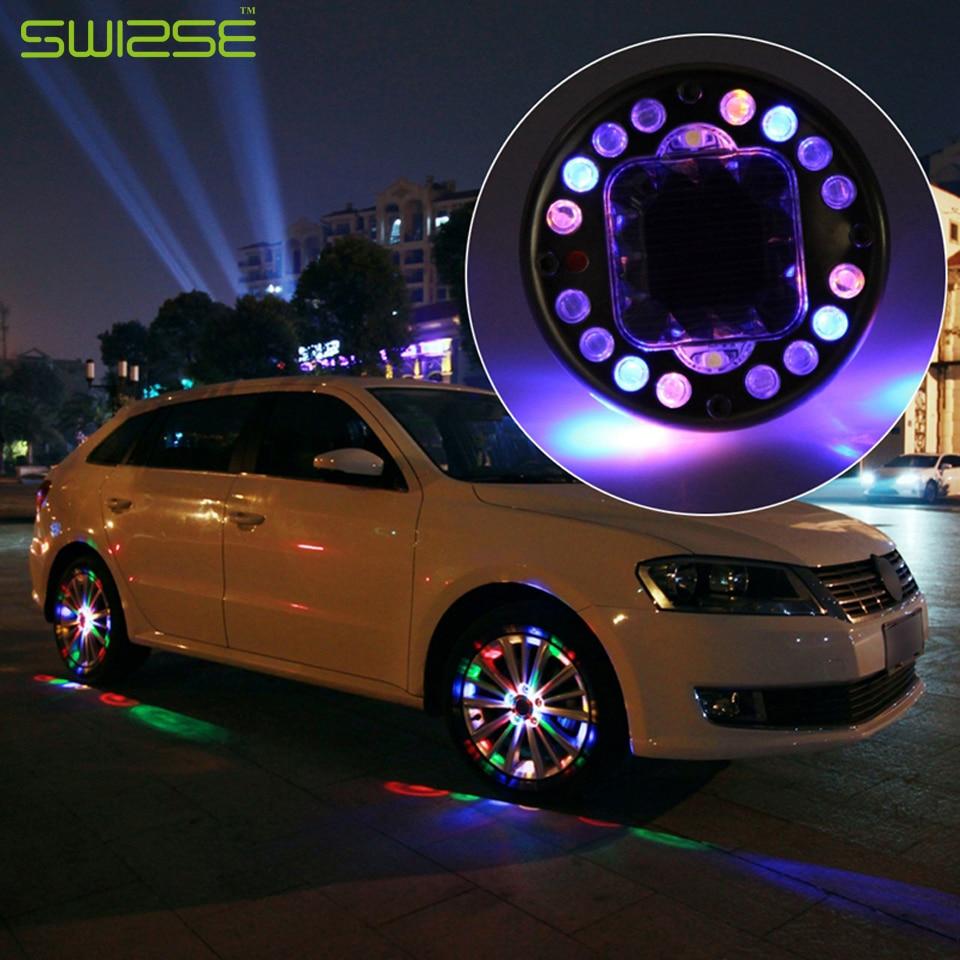 4pcs Lot Led Colorful Rgb Waterproof Flash Wheel Lights
