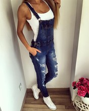 Autumn Women Denim Blue Elastic Jeans Jumper Skinny Strappy Pocket Washed Cowboy Trousers Button Plus Sizes Female Overalls strappy open shoulder jumper