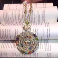 Diseñador de moda 925 joyas de plata / oro / oro rosa plateado 3A Cubic Zirconia Colored Gems Necklace