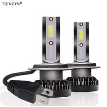 TUINCYN 2 шт. H7 мини светодио дный фар автомобиля 12000lm 6000 К Белый супер яркий свет авто 12 В лампы разработан новый удар светодио дный фара
