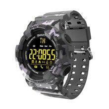 Sport Smart Watch men outdoor camouflage Bluetooth Smartwatch Fitness Motion tracking Alarm Clock Waterproof Wristwatch цены онлайн
