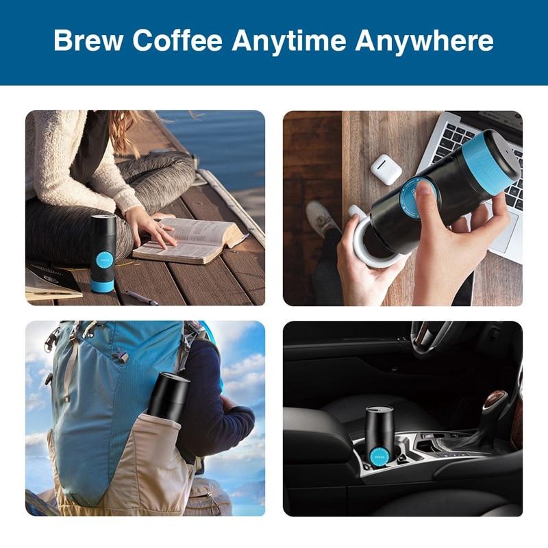 2 en 1 cápsula y molido Mini cafetera Espresso portátil extracción en frío y caliente USB máquina de fabricación de polvo de café eléctrico