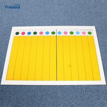 Montessori Kids Toy Point Game 1 Board Intelligent Multicolor Preschool Brinquedos Juguets