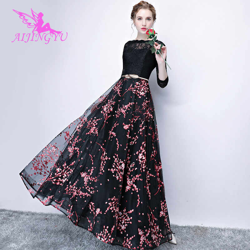AIJINGYU Sexy Long Sleeve Evening Dress Party Gown 2018 Women Elegant  Formal Special Occasion Dresses Fashion 5aebda37dd06