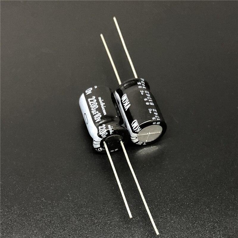 10Pcs/100Pcs 2200uF 10V NICHICON VK Series 10x16mm 10V2200uF High Quality Aluminum Electrolytic Capacitor