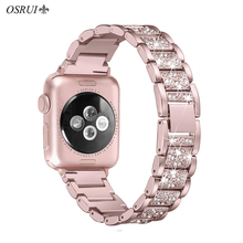 OSRUI For Apple Watch band 40mm 44mm 38mm 42mm women Diamond Band for Apple Watch 4 3 2 1 iWatch bracelet stainless steel strap osrui for apple watch band 40mm 44mm 38mm 42mm women diamond band for apple watch 4 3 2 1 iwatch bracelet stainless steel strap