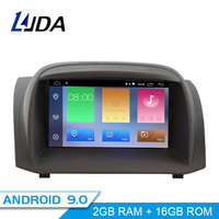 LJDA Android 9.0 Car DVD Player For FORD Fiesta 2008 2017 GPS Navigation 2 Din Car Radio Multimedia WIFI Stereo IPS Headunit RDS