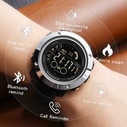Smart watch mężczyźni Sport krokomierz wodoodporny Bluetooth mężczyźni cyfrowy inteligentny zegar aplikacji przypomnienie o połączeniu smart watch dla androida Ios