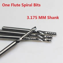1pc 3.175mm SHK Single Flute Bit Carbide Engraving Cutters Wood Cutting Tools Blade for Carving Milling MDF acrylic PVC