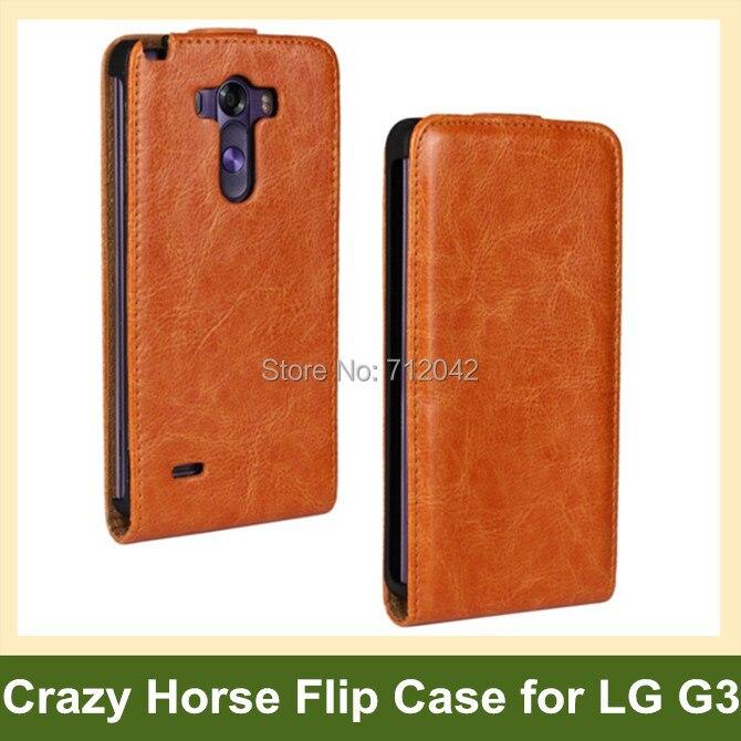 c766b7a642e4 Hot Crazy Horse patrón pu cuero Flip funda para LG G3 D855 D858 con rápida  magnética envío gratis