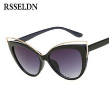 RSSELDN 2017 Newest Fashion Cat Eye Sunglasses Women Brand Designer Style Sun glasses Female UV400 Retro oculos feminino