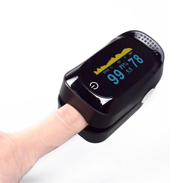 Portable Household Digital Fingertip Pulse Oximeter Blood Oxygen Monitor SPO2 PR PI Sleep/Heart Rate Monitor Saturation Oximeter