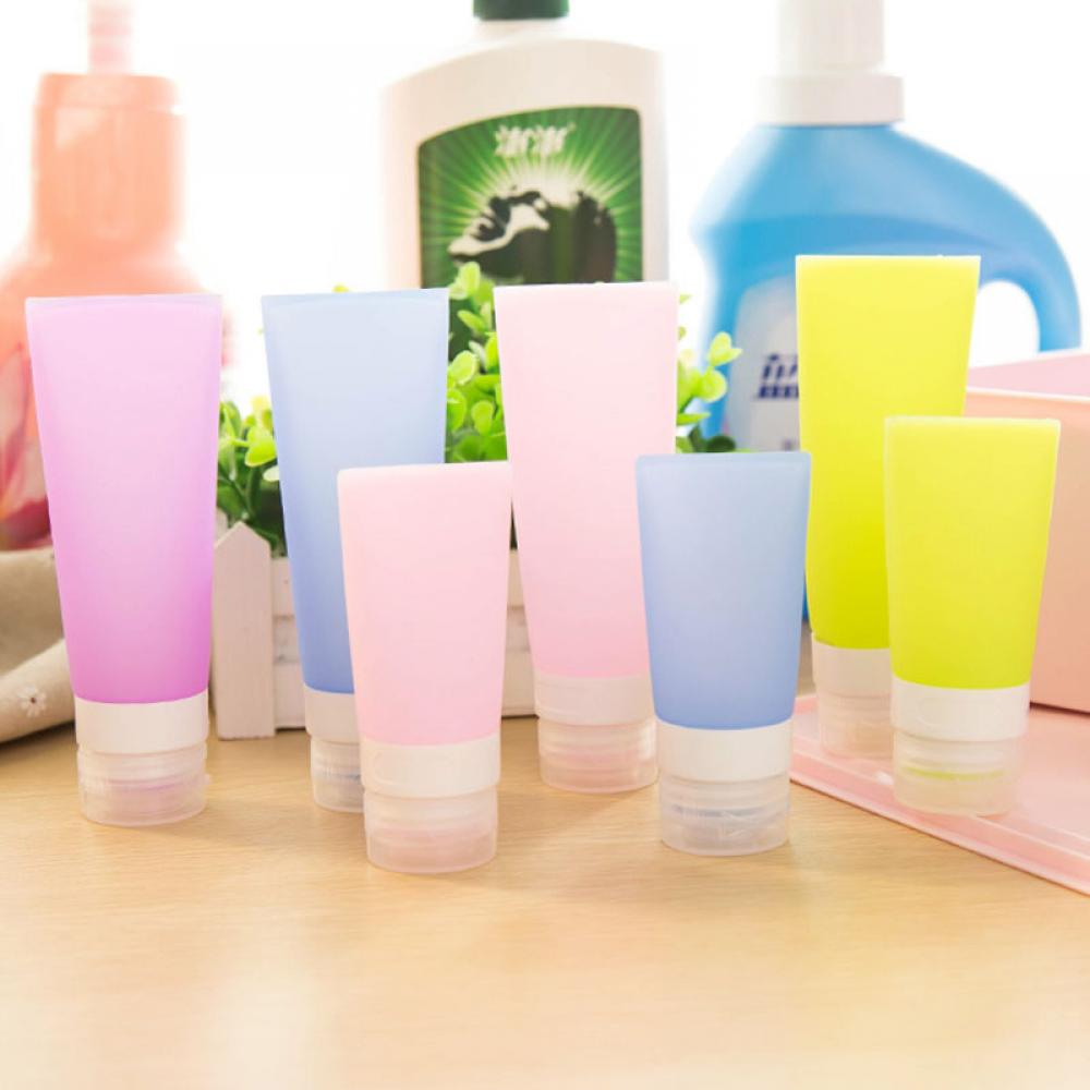 1pc 38ml 80ml Empty Silicone Travel Packing Press Bottle For Lotion Shampoo Bath Container Portable Bottle Travel Accessories