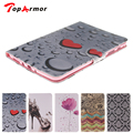 TopArmor Red Heart Print For Samsung Galaxy Tab A 8.0 T350 T355 Tablet Cases PU Leather Case Soft tpu Back Cover +Free gift