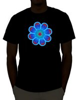 Emazing Lichten Sound Activated Light Up Rave T Hirt Streetwear Grappige Print Kleding Hip-Tope Mans T-Shirt Tops Tees Plus Size