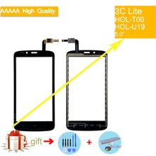 For Huawei Honor 3C Lite HOL-T00 HOL-U19 Touch Screen Panel Sensor Digitizer Front Glass Touchscreen NO LCD black