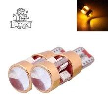 FYSZ Car T10 LED super bright W5W 168 194 8W 3000K Cold Yellow light 19-SMD 3014 Indicator Lamp (2 PCS)