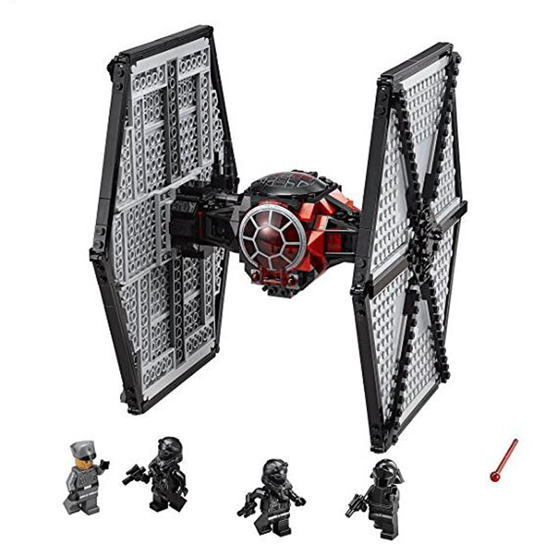 Star Wars First Order Special Forces TIE Fighter Building Kit Blocks Toys Compatible with Legoings 75101 new 1685pcs lepin 05036 1685pcs star series tie building fighter educational blocks bricks toys compatible with 75095 wars