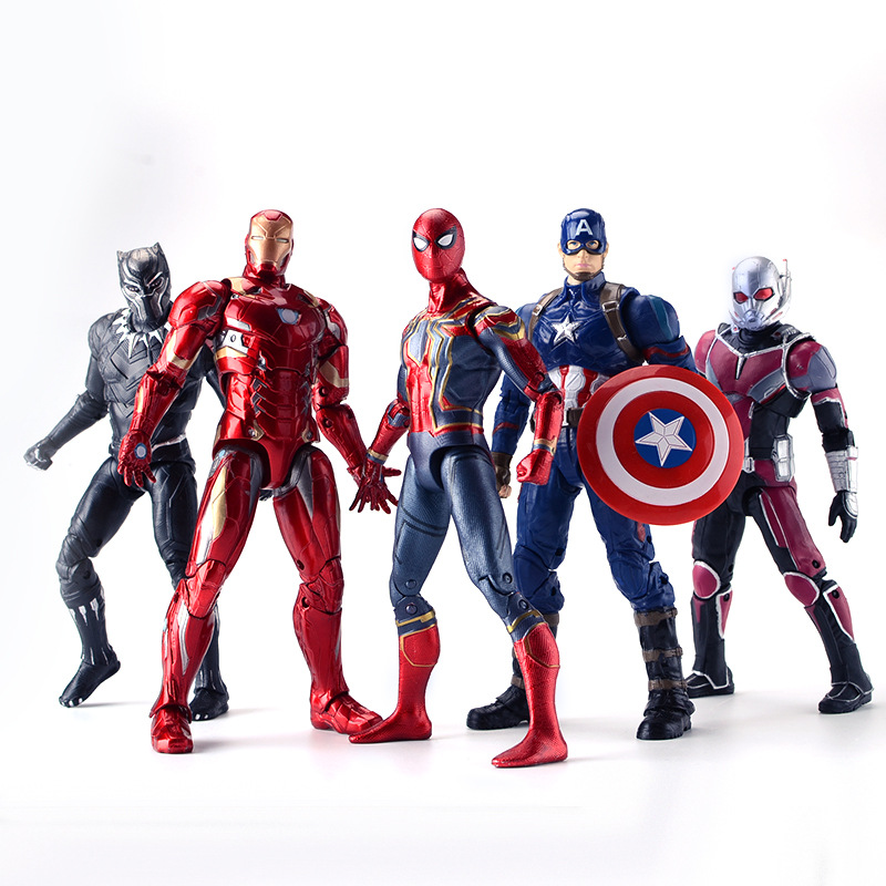 The Avengers Super Hero Spiderman Doll Marvel Spider man Iron man Antman Hulk Action Figures Toy NO Color Box new arrival marvel avengers super hero spiderman spider man carnage action figure