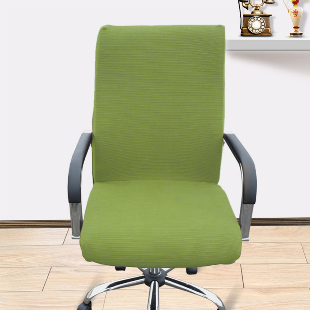 Spandex Stretch Computer Office Chair Cover Side Zipper Arm Chair ...