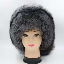 Harppihop sombrero de piel de invierno de las mujeres sombreros de piel de  zorro genuino punto gorras de la piel del zorro de pl. 3211468ab7c