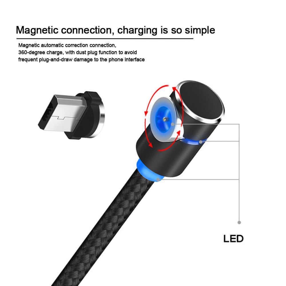 Starplat 90 Gradi Angolo Cavo Magnetico Micro USB Intrecciato Cavo di Dati per Samsung/Sony/Xiaomi Android Del Telefono per iphone 6 7 8 x