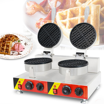 Factory Direct Waffle / Lattice Cake Equipment  Waffle stove   Double Head waffle Machine NP-600 1ps fy 2205 rotating waffle electric heating waffle single head stainless steel waffle mcmuffins machine