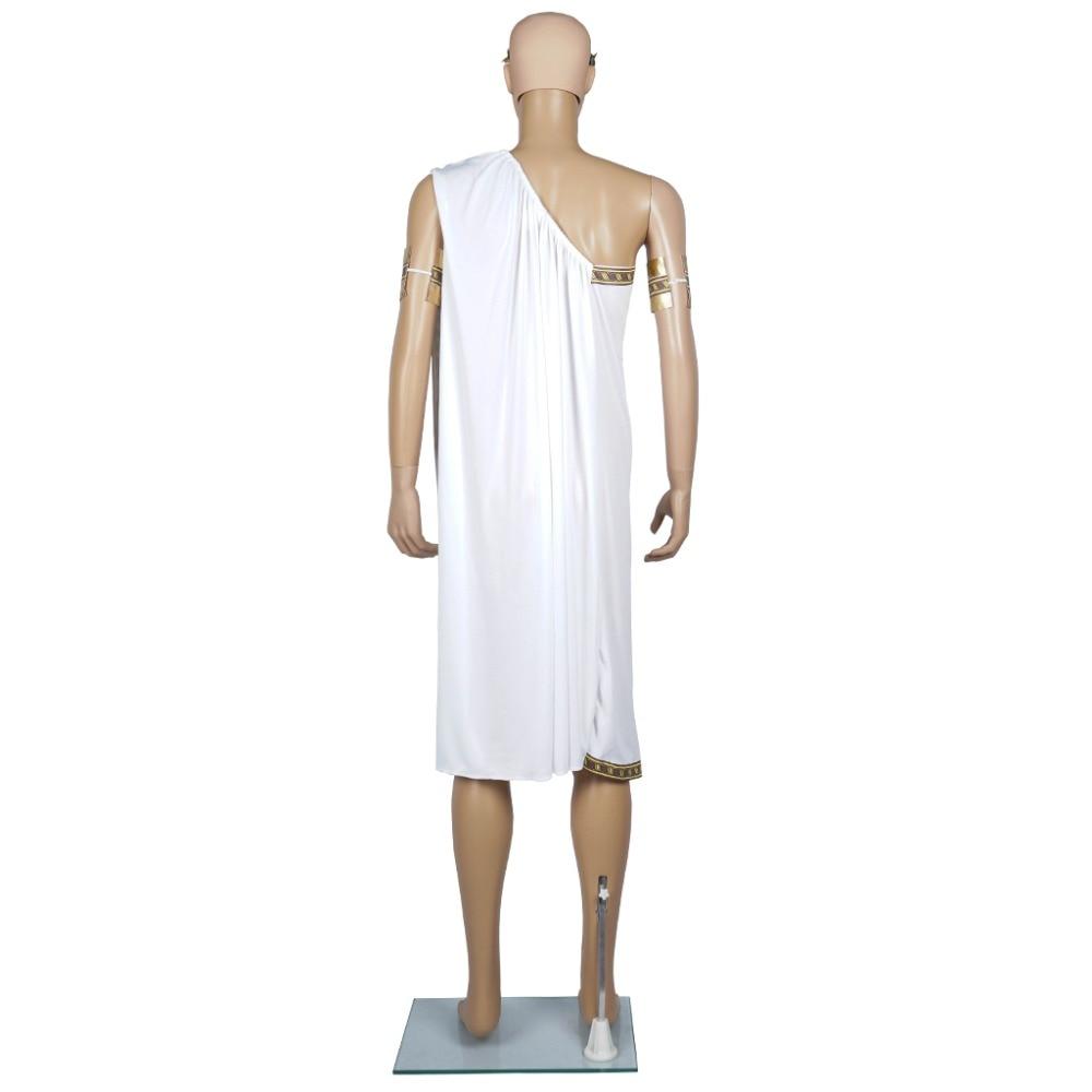 Կեսար կոստյումներ տղամարդիկ Toga Greek - Կարնավալային հագուստները - Լուսանկար 3